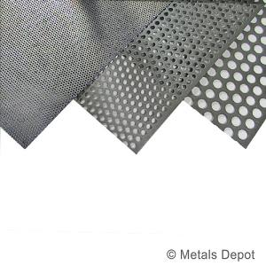 Metalsdepot Buy Perforated Steel Sheet Online
