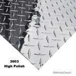 3//16 AL Aluminum Brite Diamond Tread Deck Plate 3003 12x24 .188
