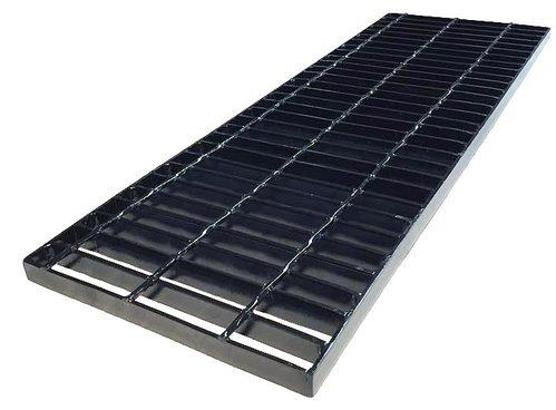 Metals depot steel trench drain grate 1 x 12 inch for 12 x 12 floor drain grate